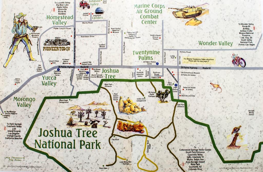 Map of Joshua Tree, California