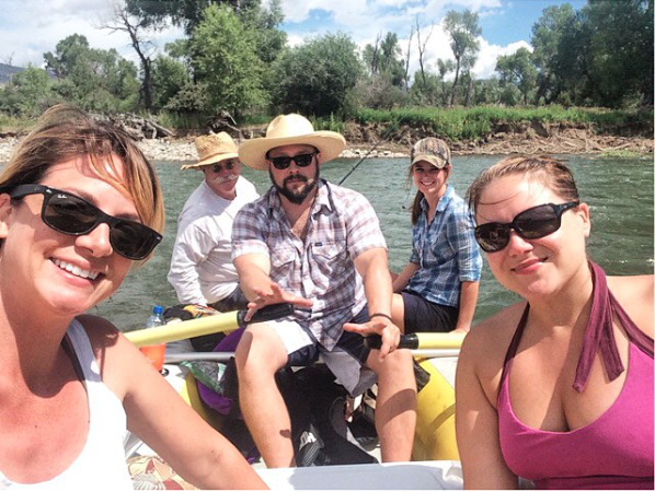 Boat Float Yellowstone River Livingston Montana